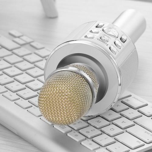 Микрофон Hoco BK3 (серебро)